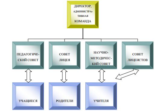 Структура управления Лицея №59